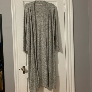 LOFT Heather Gray Duster - only worn once!